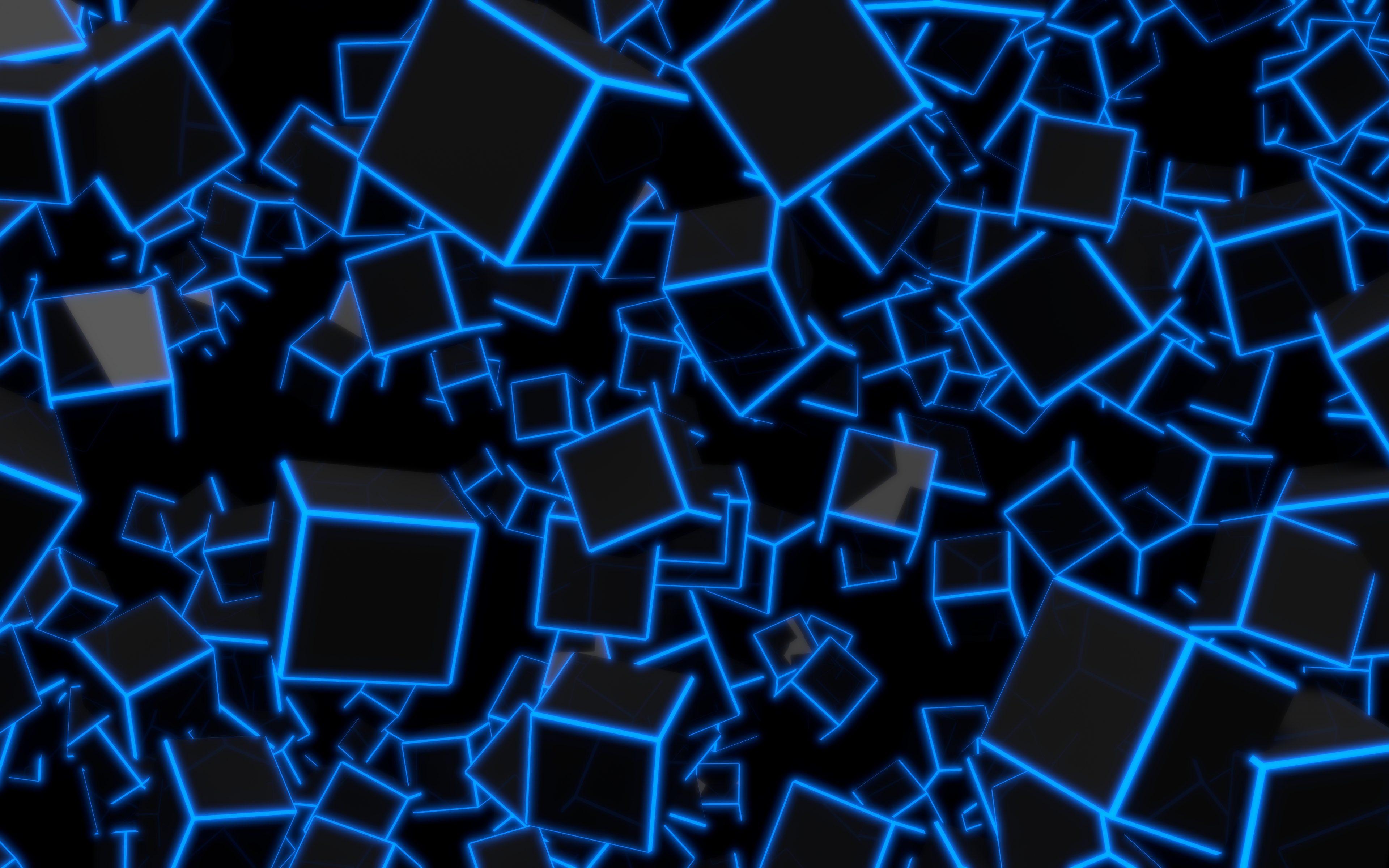 Black And Blue Wallpaper 4k