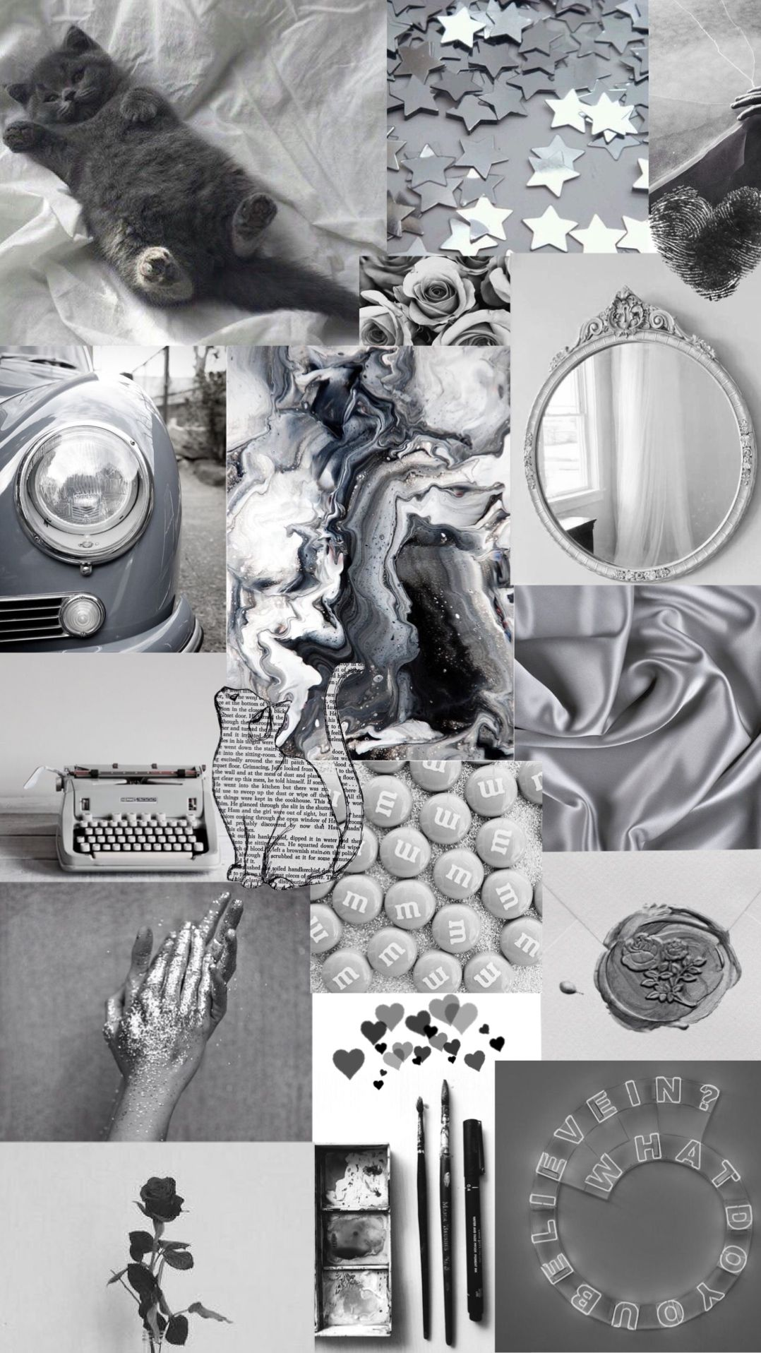 Black And Grey Aesthetic Collage Wallpapers Posted By Ethan Peltier