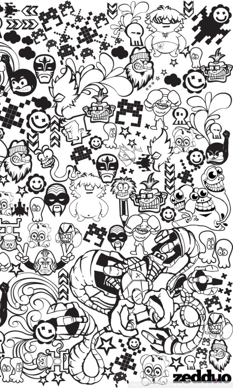 Black And White Cartoon Wallpaper Posted By John Mercado