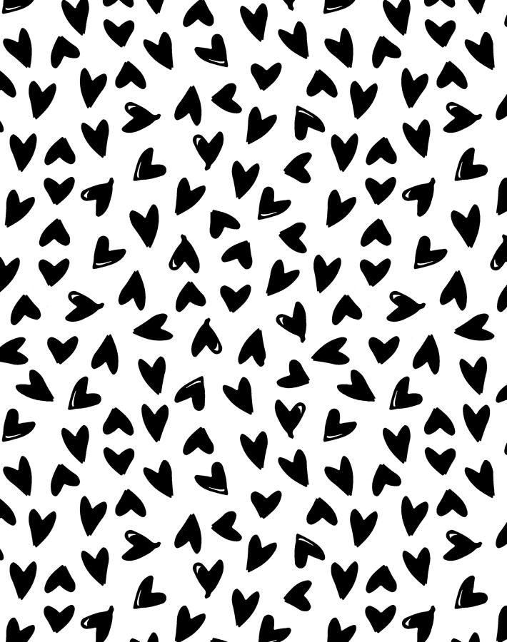 Black And White Heart Design Posted By Samantha Thompson