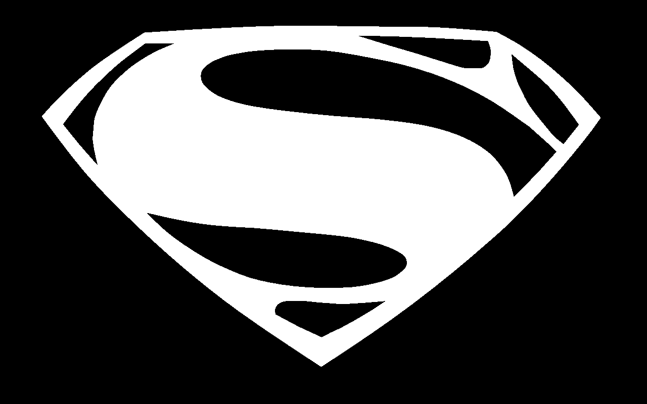 Black And White Superman Logo Posted By Michelle Johnson