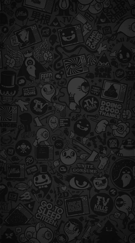 Black Cartoon Wallpaper Posted By Ryan Tremblay