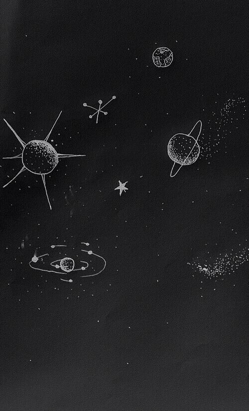 Tumblr black galaxy wallpaper Space doodles, Space iphone