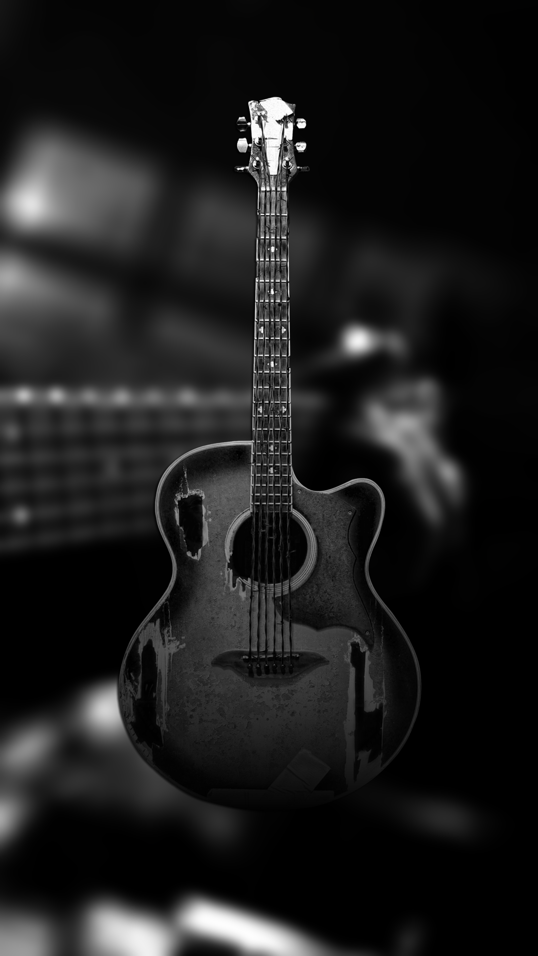 Black Guitar Wallpaper Posted By Zoey Thompson