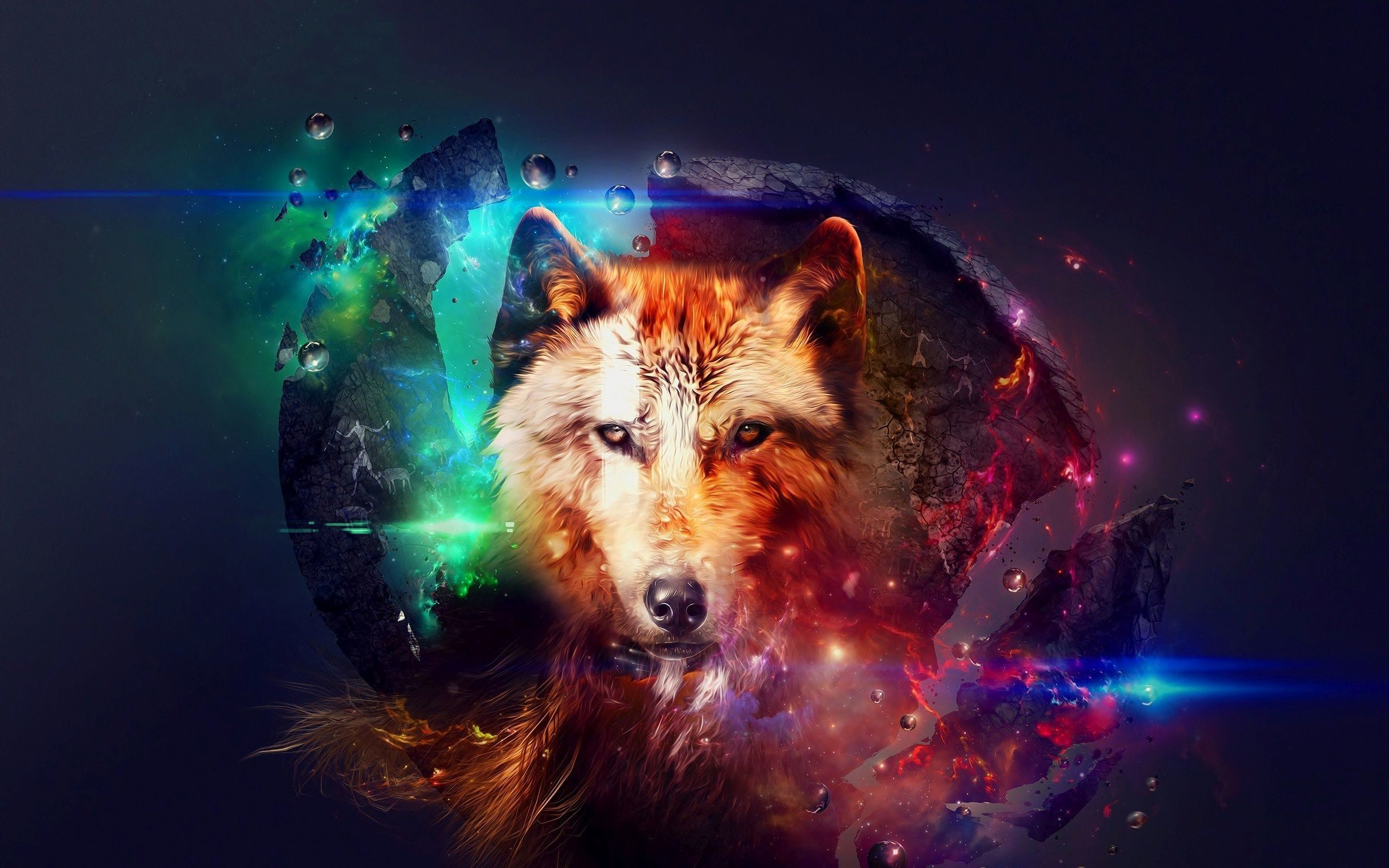 Black Wolf Galaxy Wallpapers Posted By Ethan Simpson