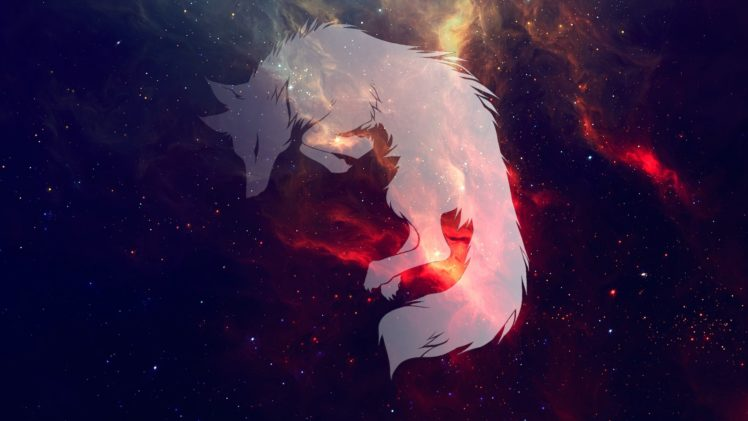 wolf, Space, Galaxy, Sleeping Wallpapers HD Desktop and