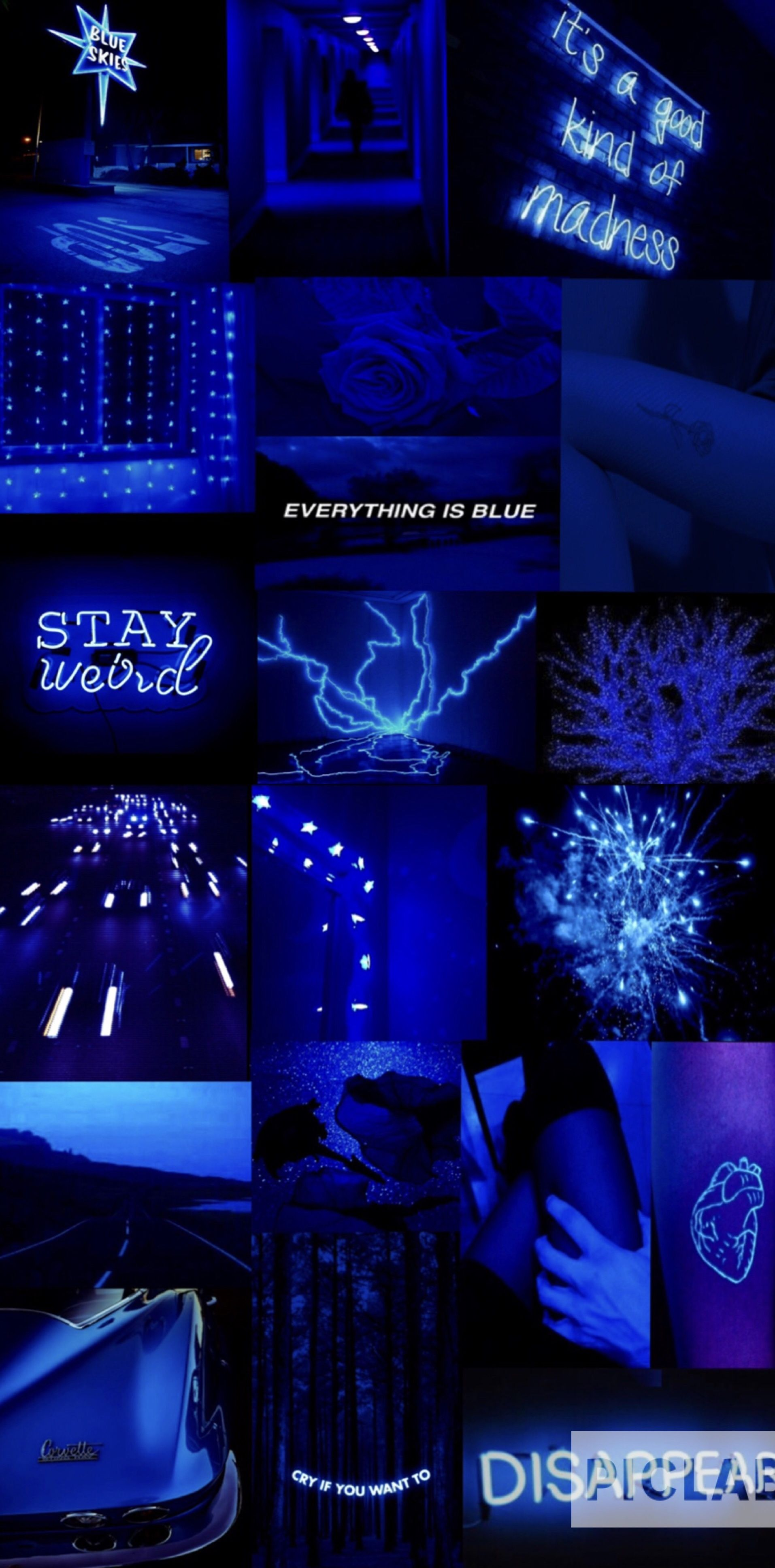 Blue aesthetic Dark blue aesthetic Electric blue aesthetic