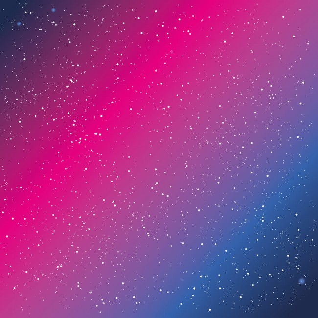 Blue and Pink Galaxy Space Stars Wallpaper Wall Mural