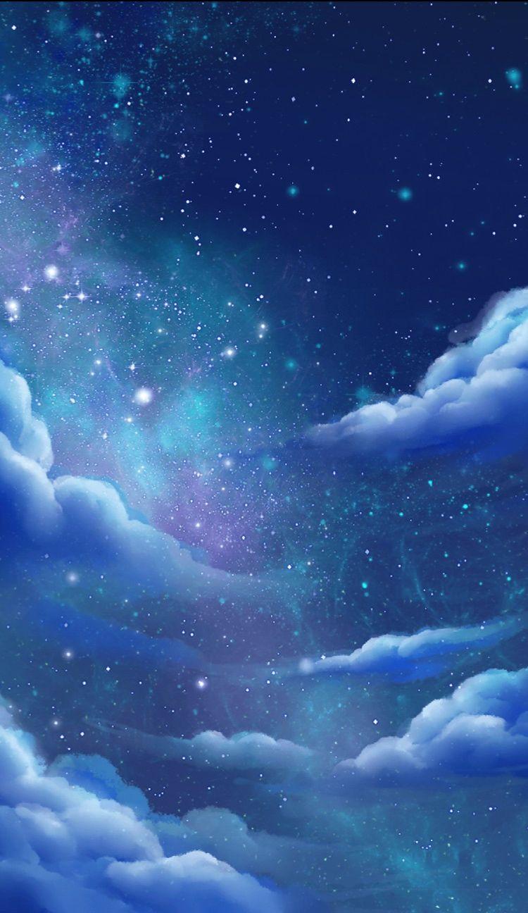 Love the sky dY dY tm in 2019 Galaxy wallpaper, Anime scenery