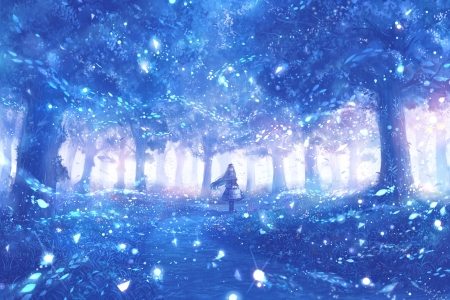 Blue Anime Wallpaper Posted By Ethan Thompson