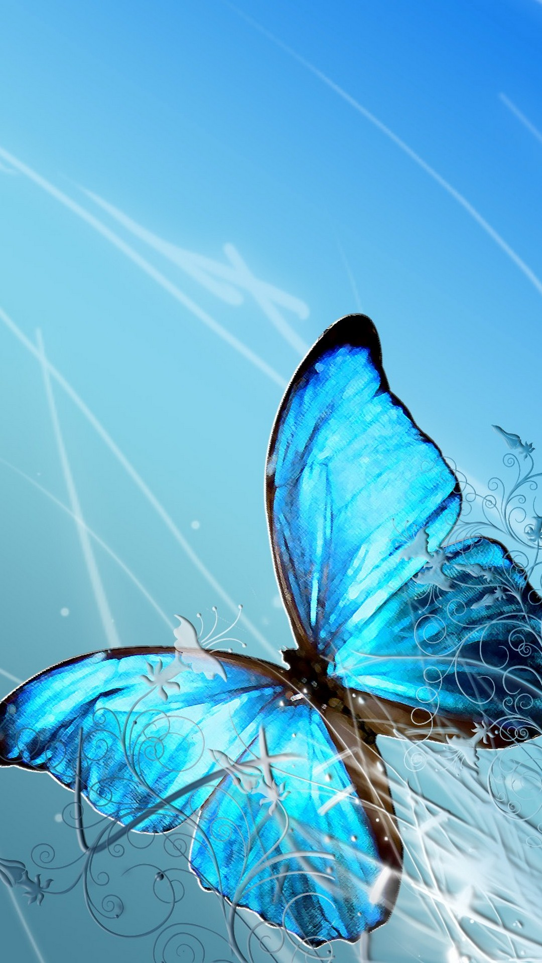 Blue Butterfly Iphone Background