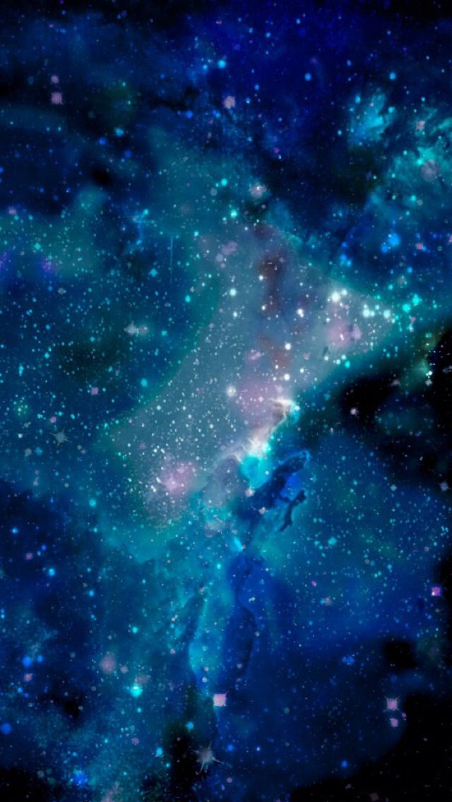 Blue galaxy wallpaper for iPhone 5 Galaxy wallpaper, Blue
