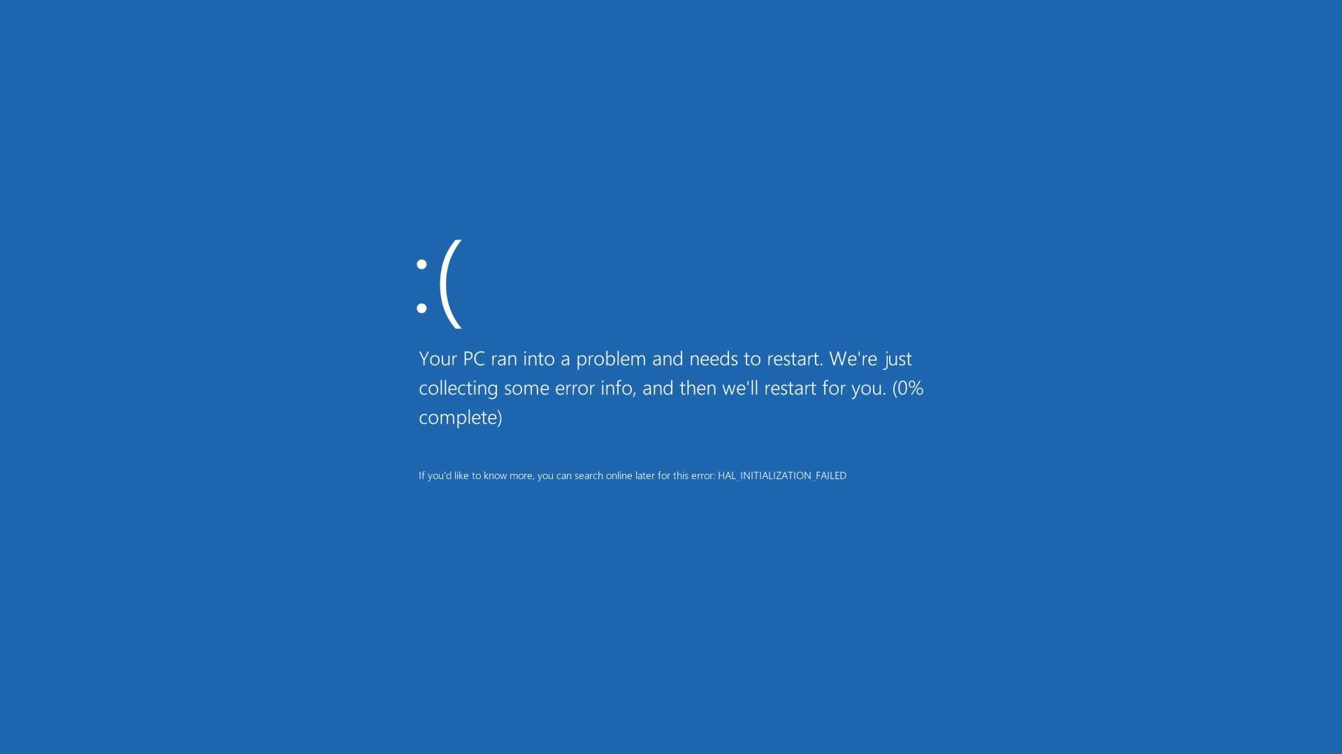 Blue Screen Of Death Wallpaper 1920x1080 Posted By Ryan Anderson