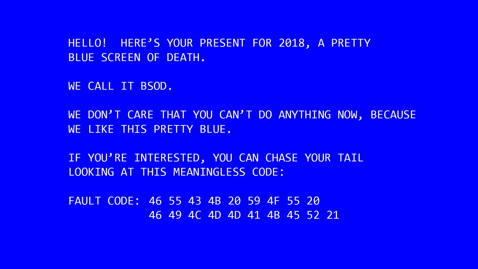 Blue Screen Of Death Wallpaper Posted By Christopher Mercado