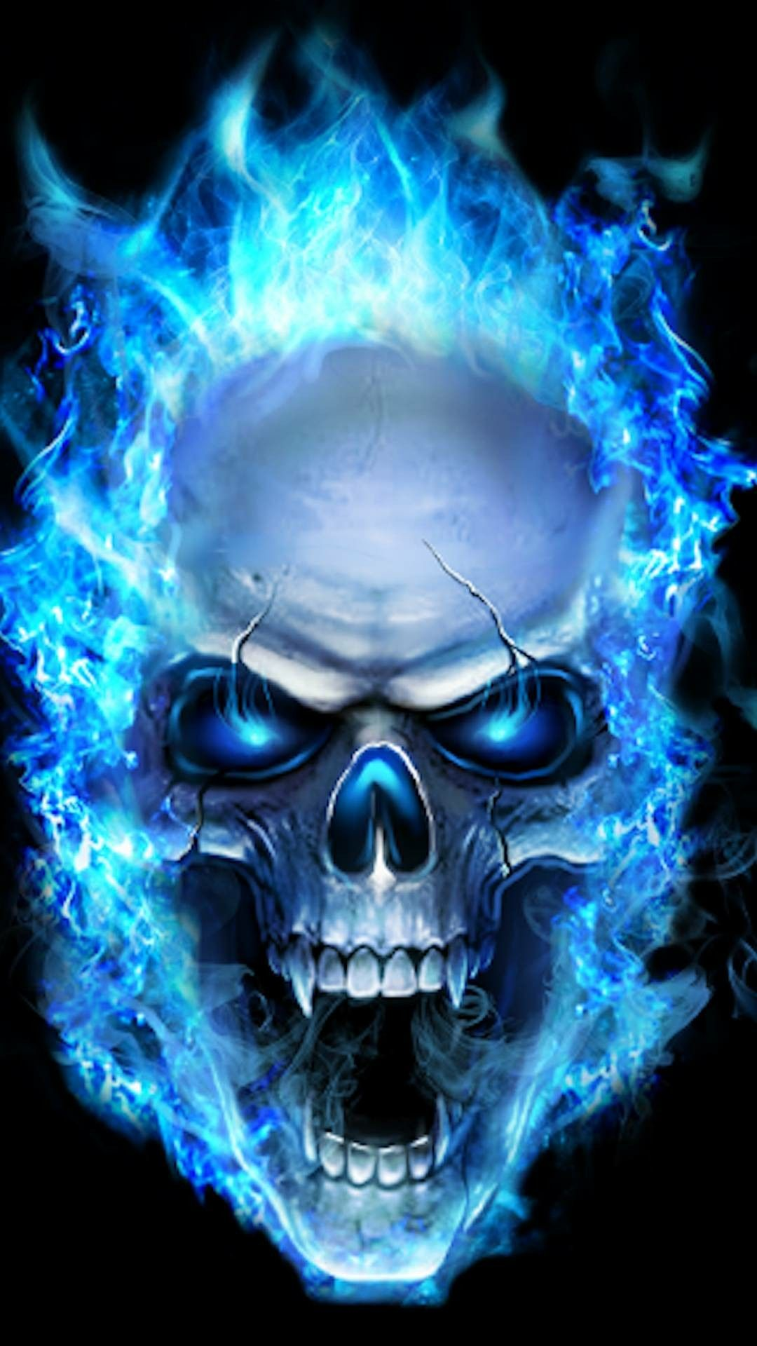 Blue Skull Fire Wallpapers Posted By Zoey Tremblay
