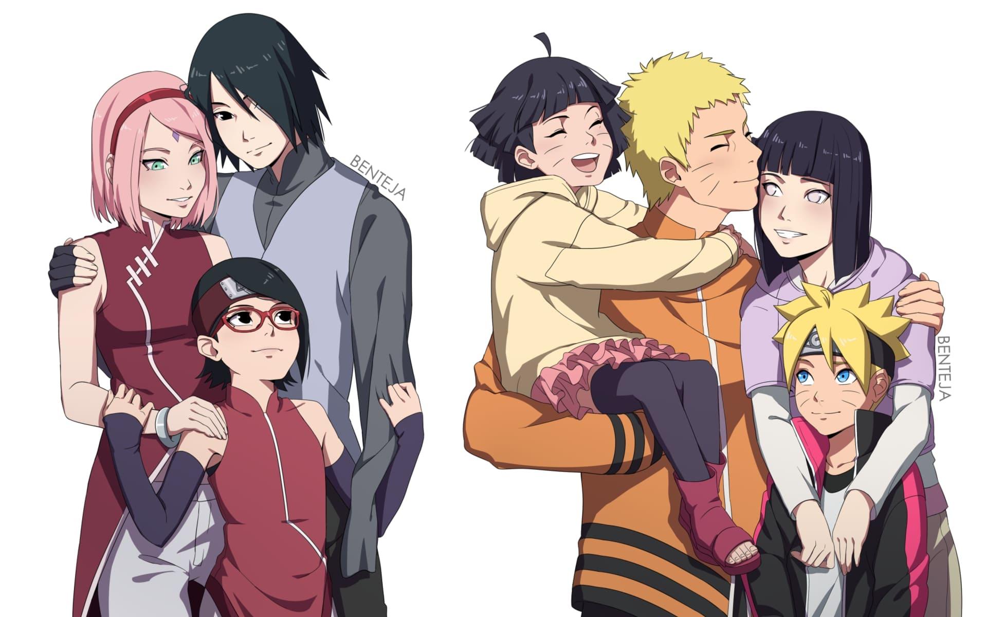 Wallpaper of Anime Naruto Boruto Family background and HD image