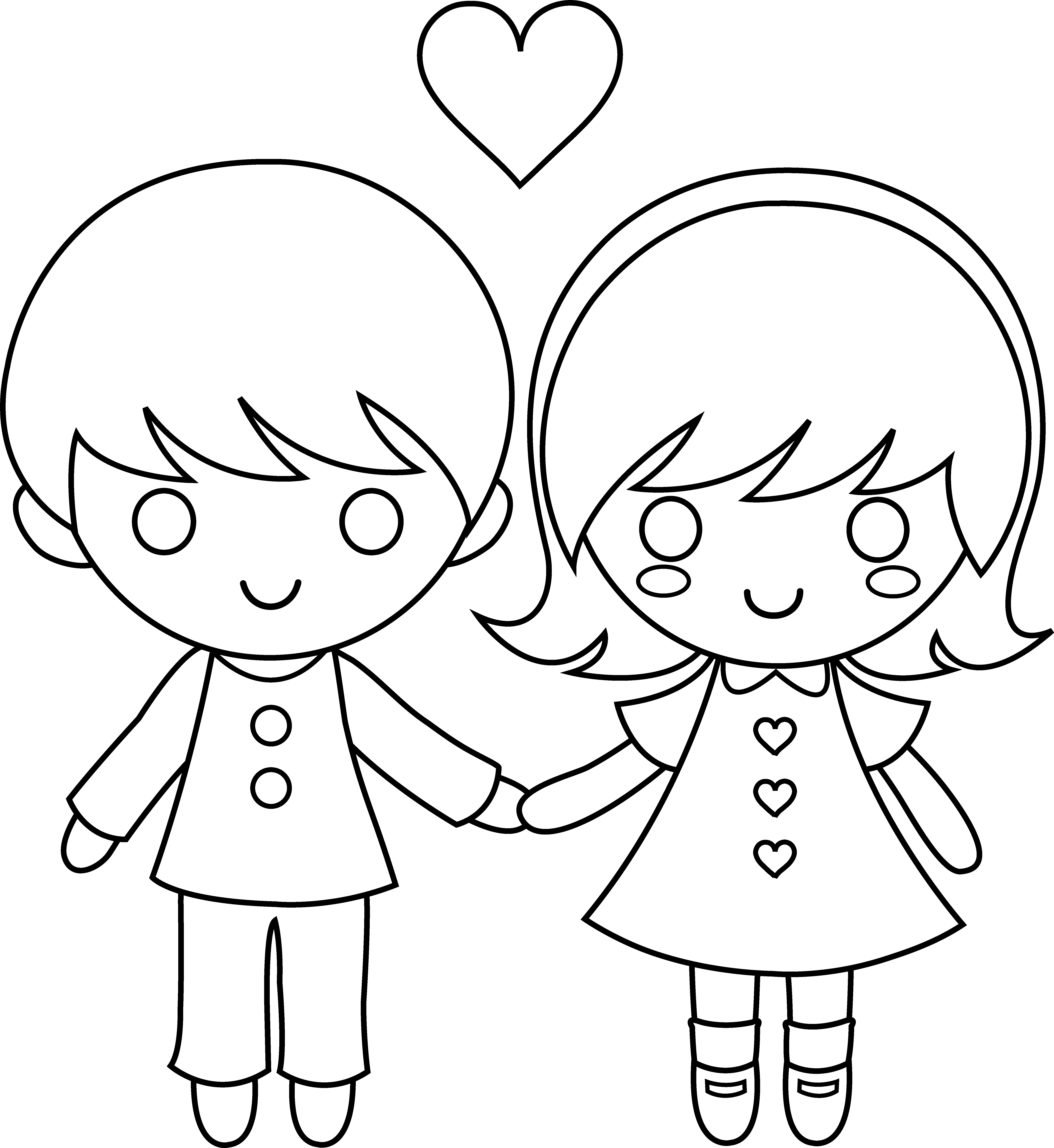 Boy And Girl Cartoon Drawing Posted By Michelle Mercado