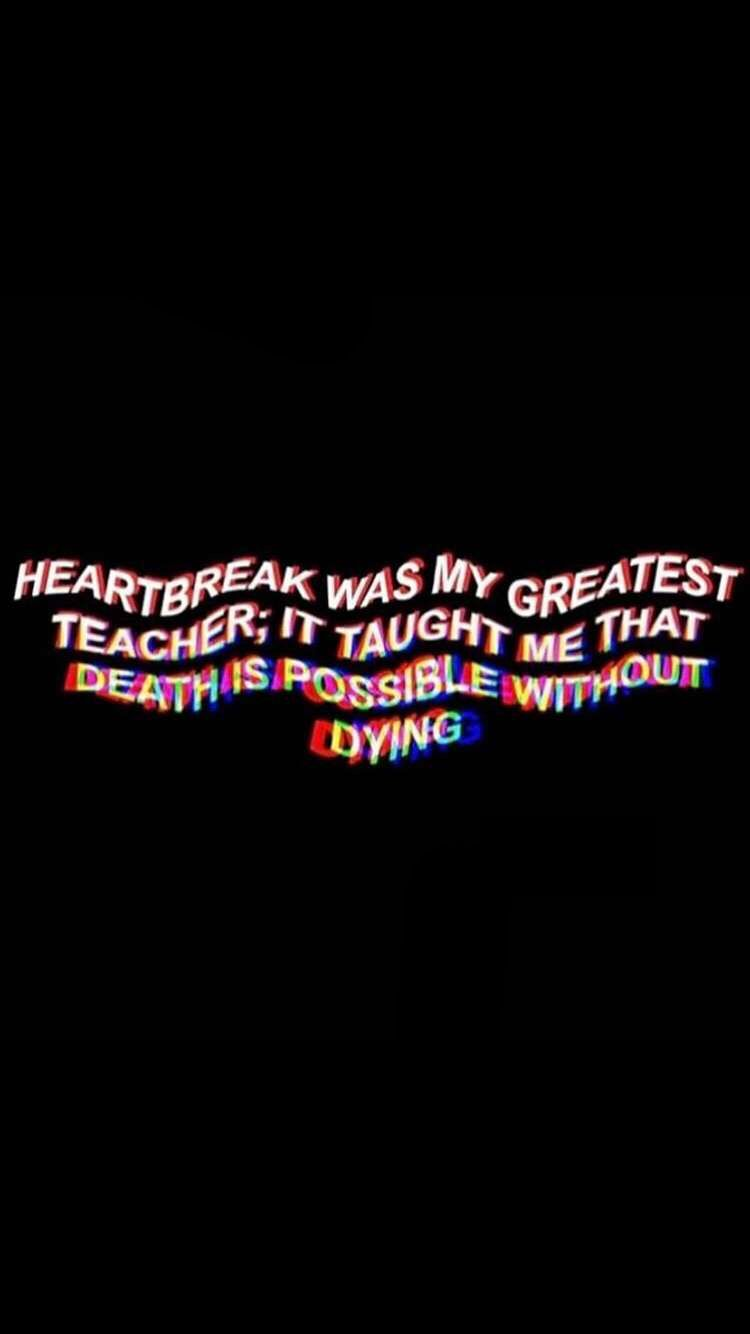 Broken Heart Aesthetic Quotes Wallpapers Posted By Zoey Anderson