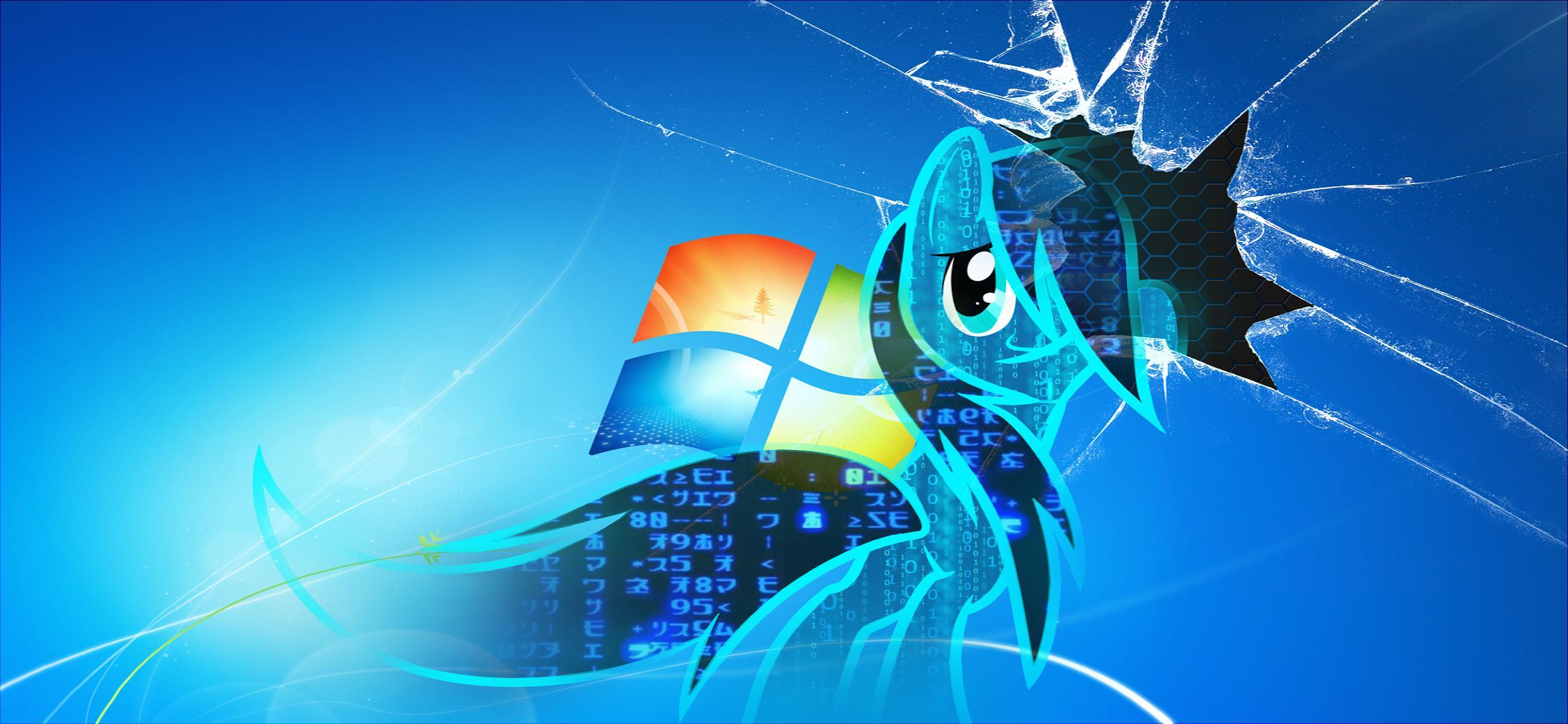Broken Windows 7 Wallpaper