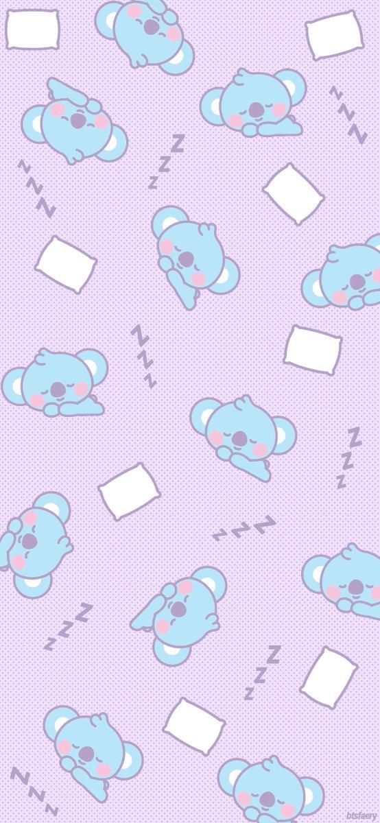 Sleepy Baby KOYA. dYLsdY dY z BT21 Mobile background. BTS twt