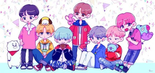 Bt21 And Bts Chibi Wallpaper