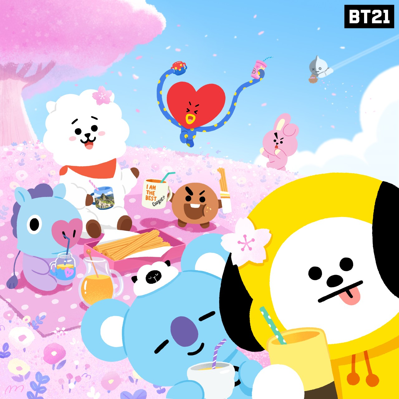 BTS Cartoon Wallpapers Wallpaper Cave
