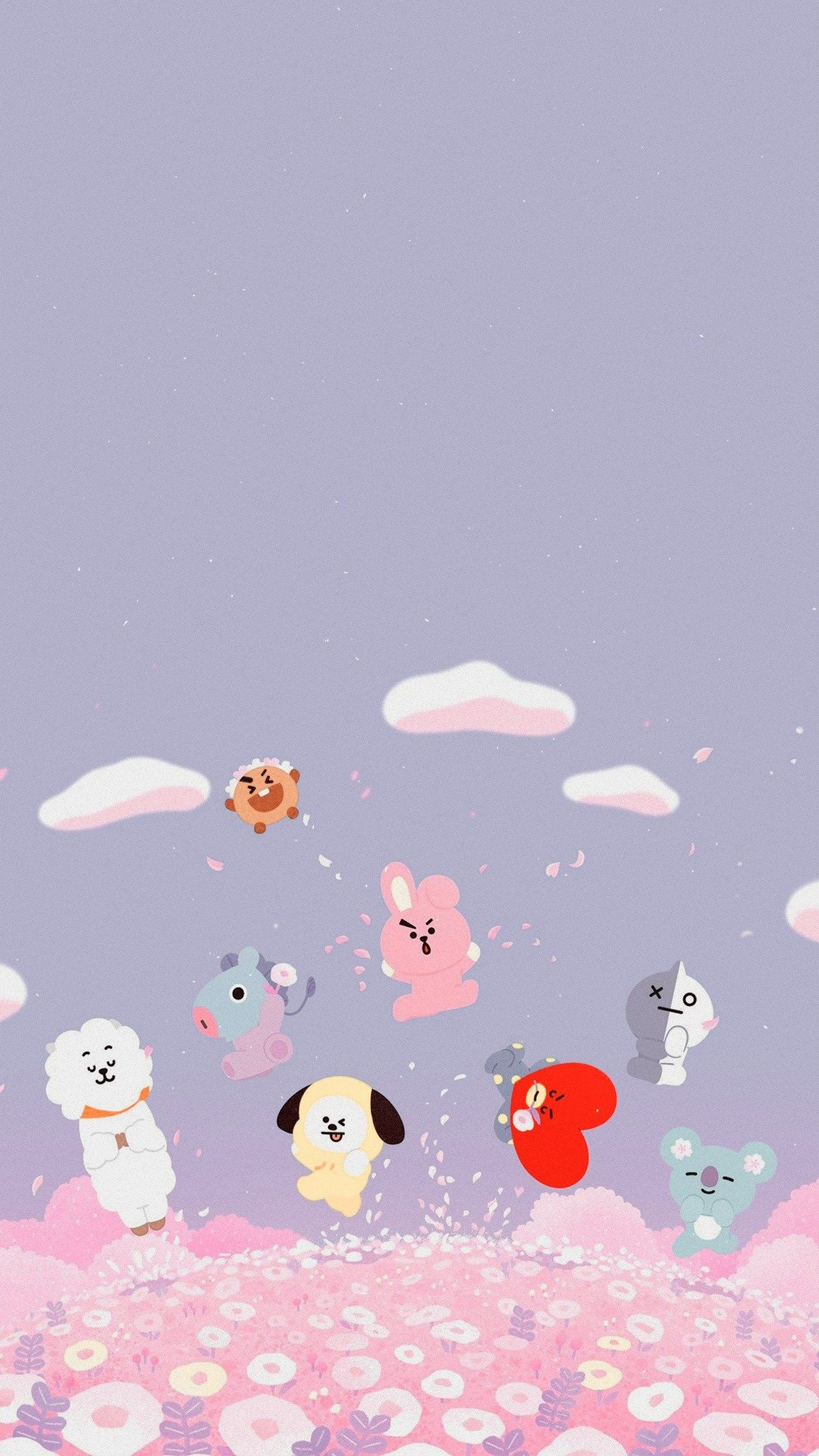 BT21 Wallpaper Credits to Twitterlockszscreenbts AS BT21