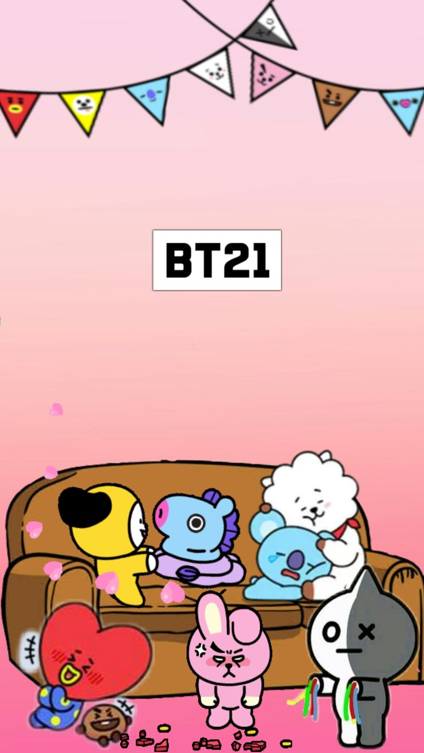 Bt21 wallpaper aa bt21 bts bt21wallpaper bt21cooky