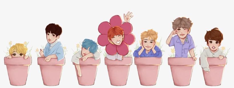Bts Plant Pot Stickers Individual Bts Png Individual