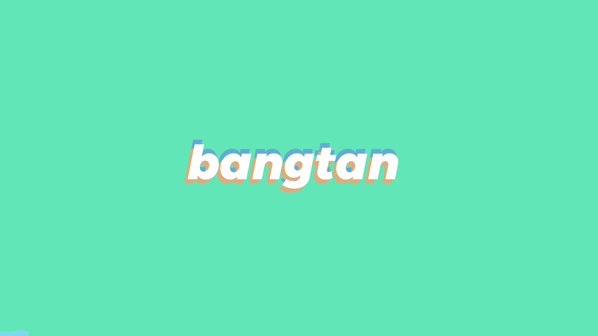 bts bangtan mint minimalist desktop wallpaper HD 1920 x 1080