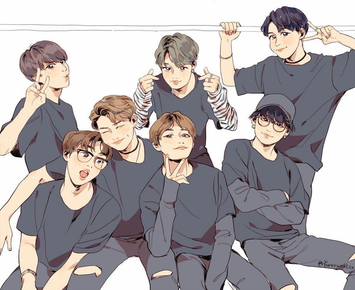 BTS Fan Art Desktop Wallpapers Top Free BTS Fan Art