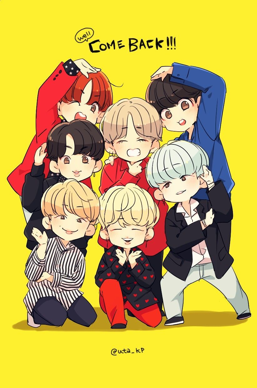 Bts Fanart Chibi Wallpaper Sante Blog