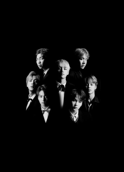 bts, jin, and jungkook image in 2019 Bts black, white, Bts