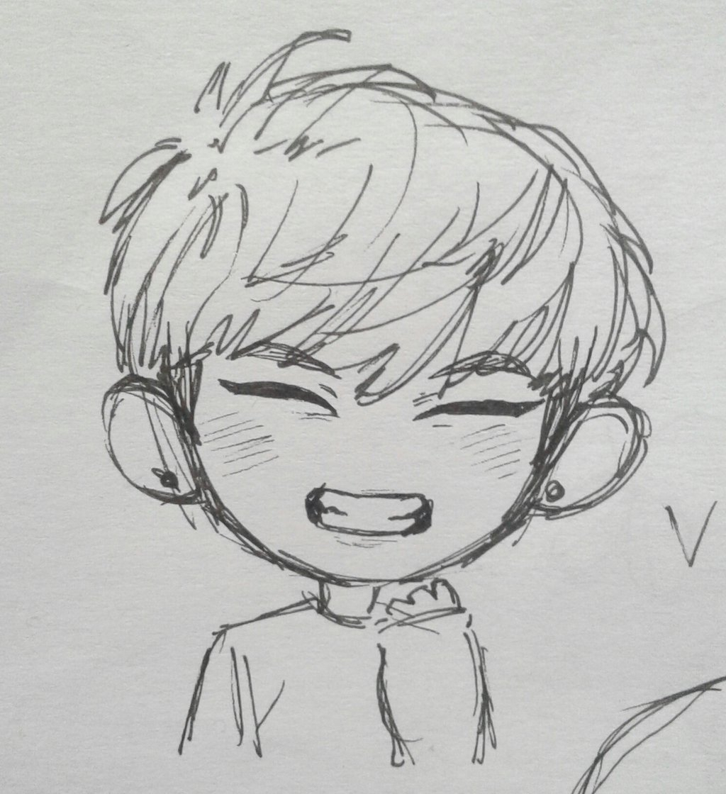 Bts Cartoon Drawing Posted By Zoey Anderson