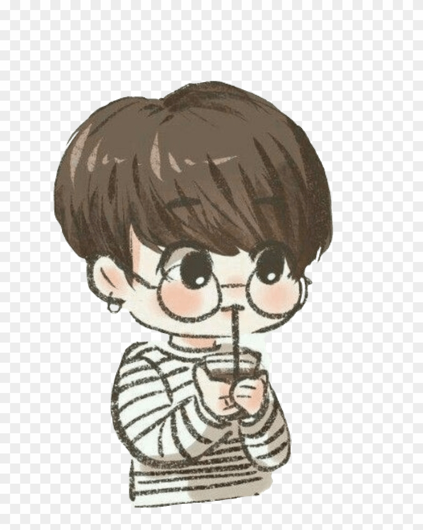 Jungkook Chibi Wallpapers Easy Chibi Bts Drawings, HD Png