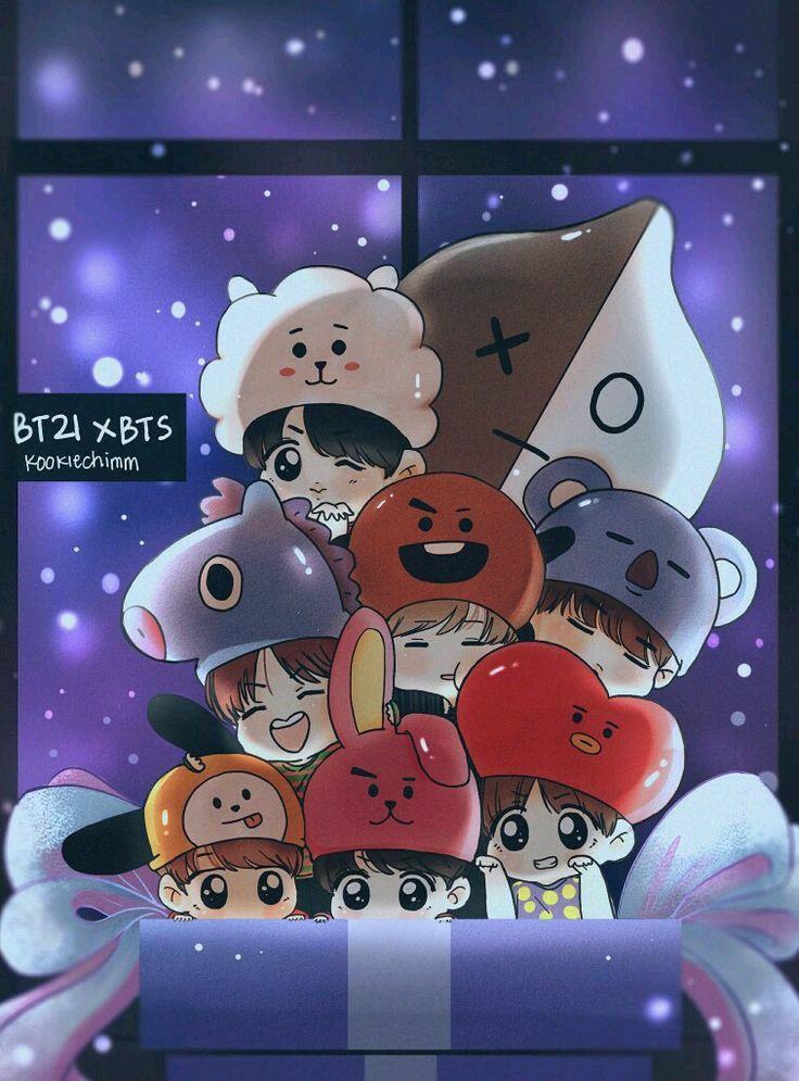 BTS BT21 in 2019 Bts chibi, Bts wallpaper, Bts lockscreen