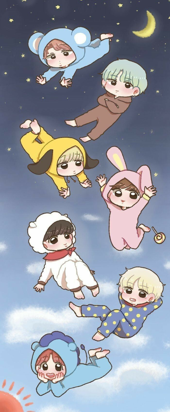 BTS WALLPAPER Bts lockscreen, Bts chibi, Bts wallpaper