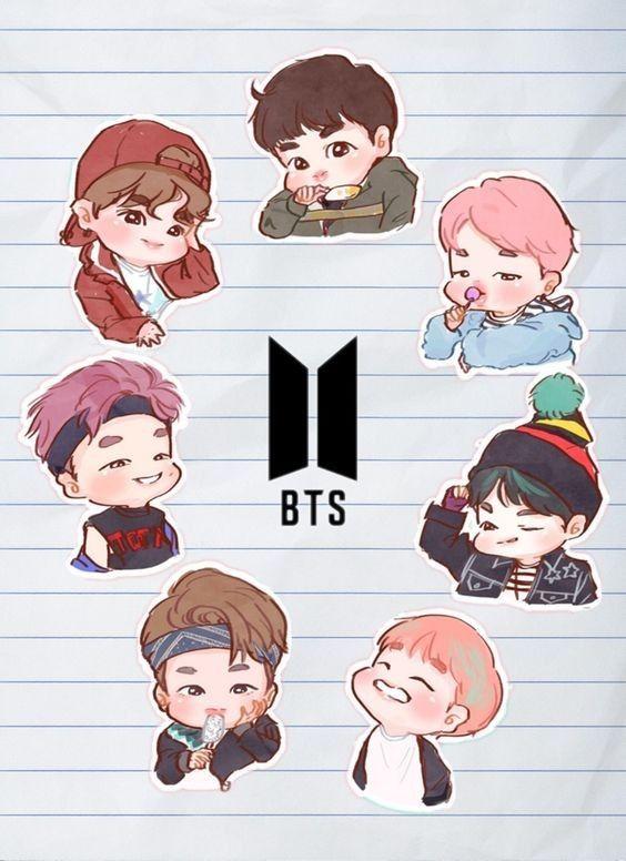 BTS cute pic in 2019 Bts chibi, Bts drawings, Bts lockscreen