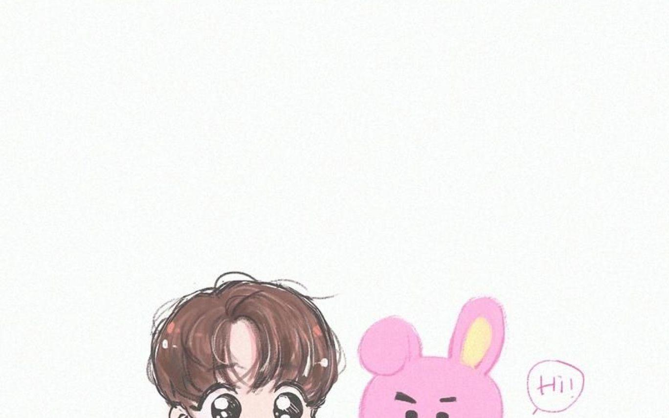 Bts Jungkook Cartoon Wallpaper