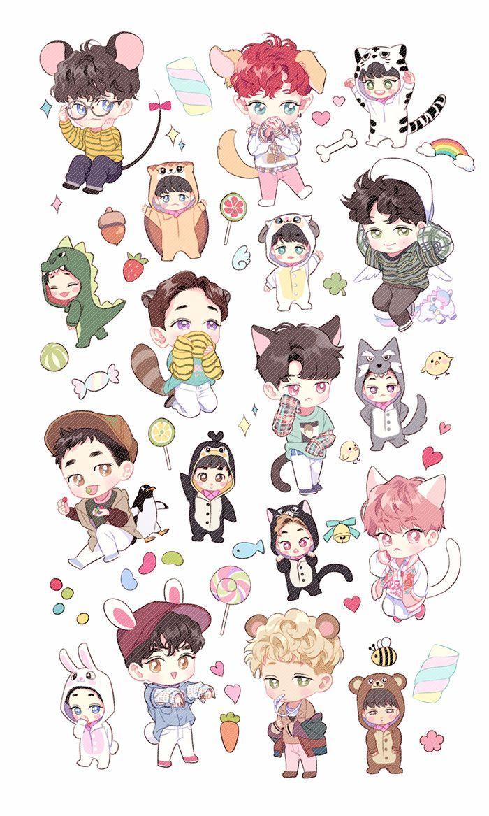 EXO Chibi Wallpapers Top Free EXO Chibi Backgrounds