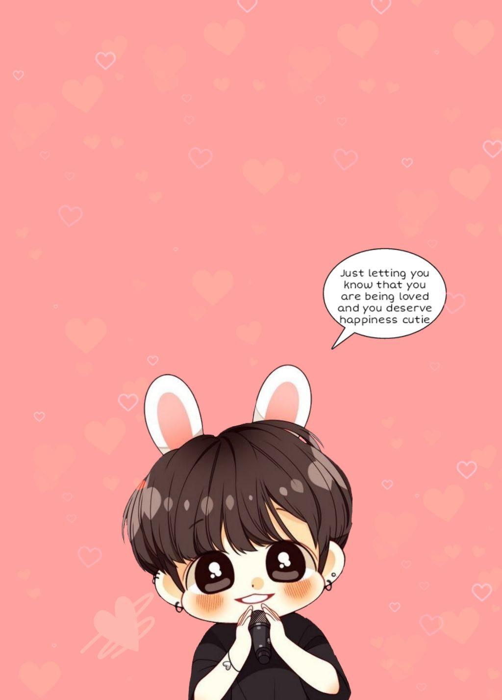 cute jungkook chibi babykookie love bts wallpaper