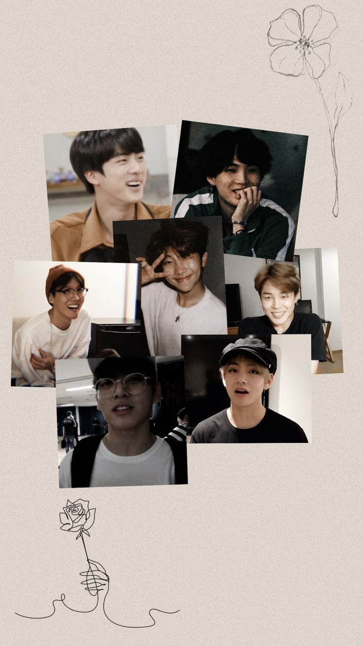 BTS ot7 all lockscreen wallpaper simple aesthetic Phone