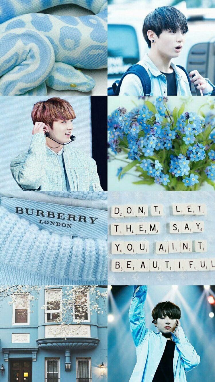 Bts Blue Aesthetic Wallpaper Collage Bts Collage Tumblr