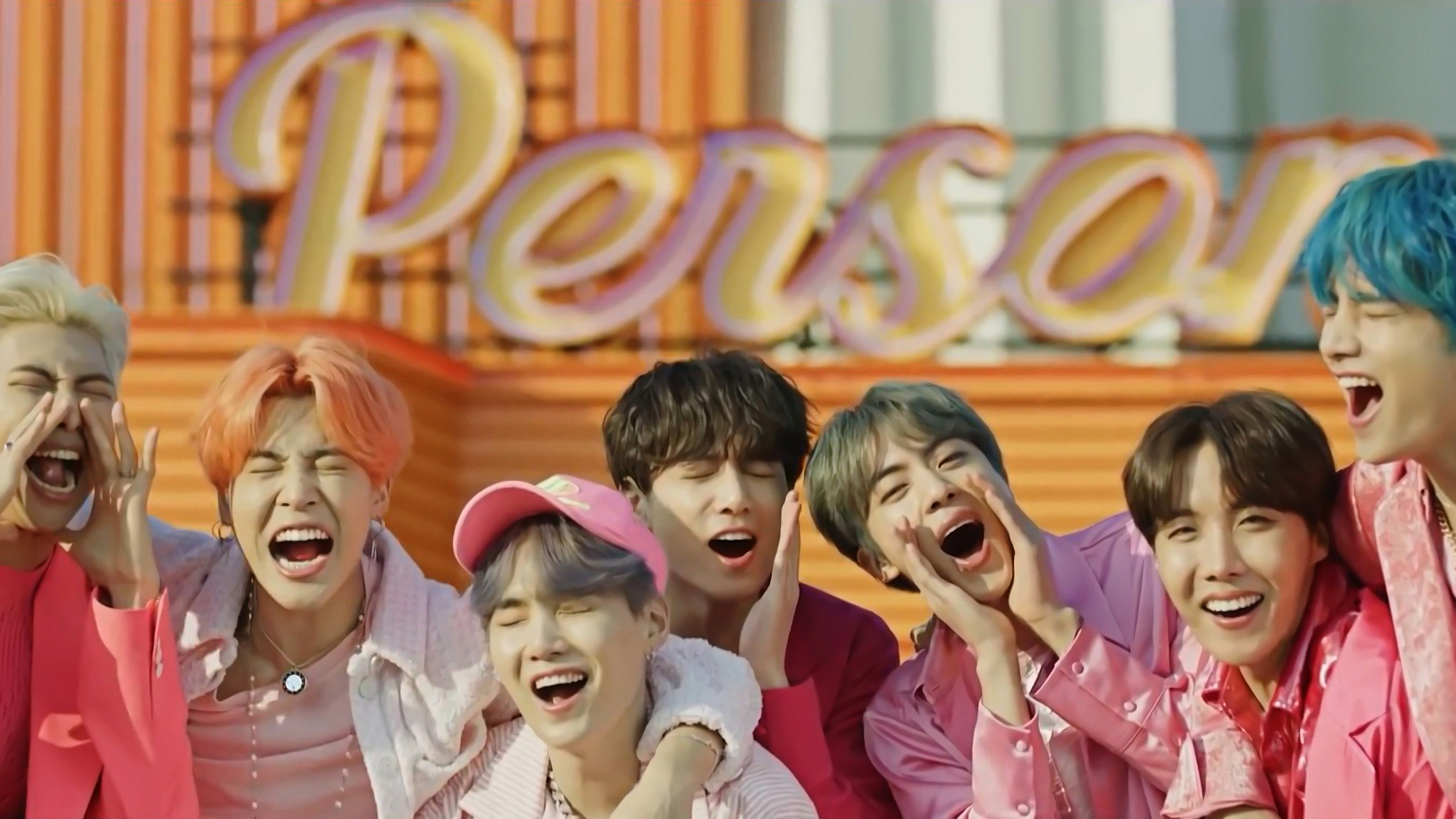 BTS Boy With Luv All Members 4K Wallpaper 10