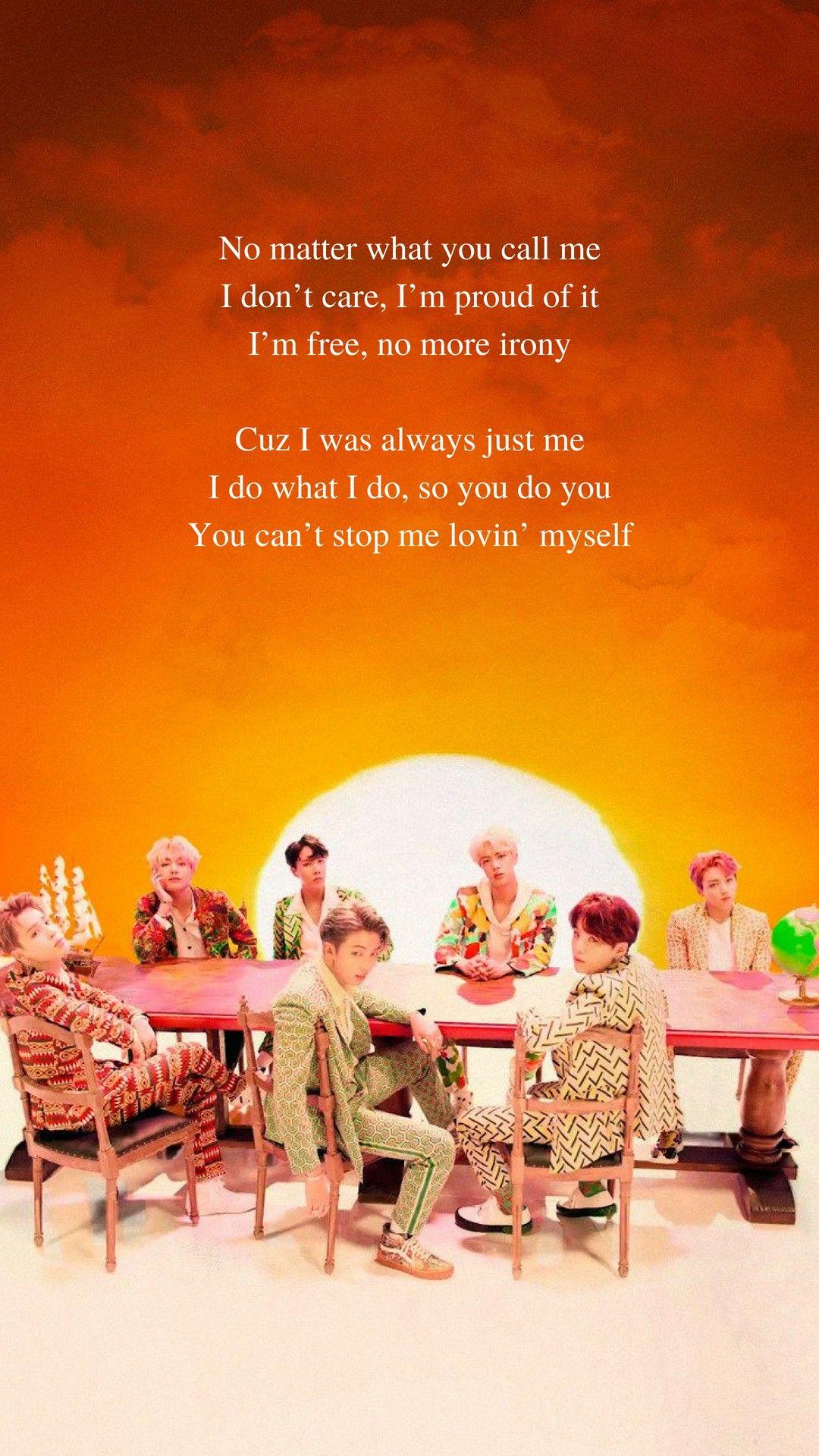 IDOL by BTS Lyrics wallpaper in 2019 Bts wallpaper lyrics