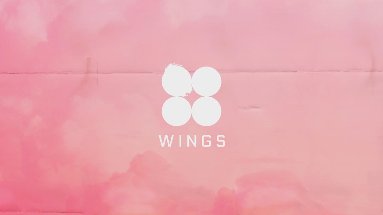 wings pink desktop background Aesthetic desktop wallpaper