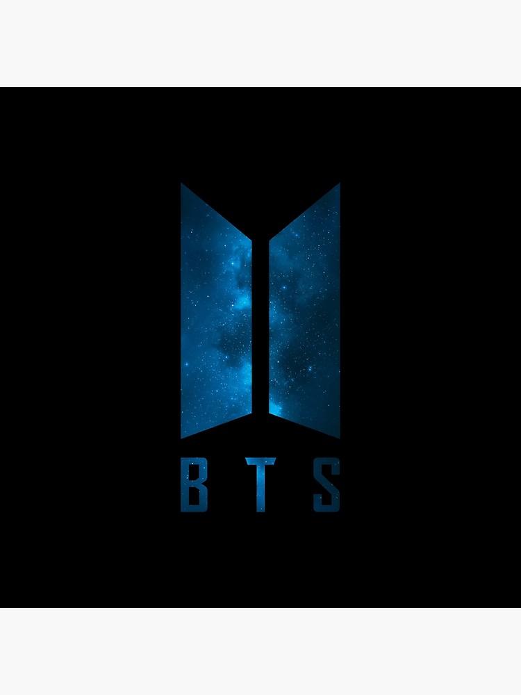 BTS Wings logo blue galaxy Army Kpop RM, Suga, Jin, Jimin, J Hope, Jungkook, V Poster