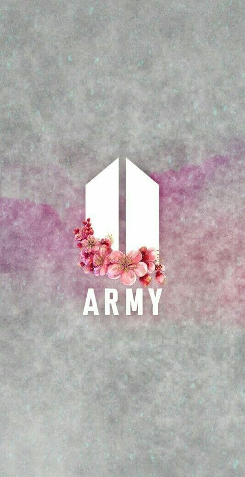 Bts Army Logo With Flowers, Download Wallpapers on Jakpost