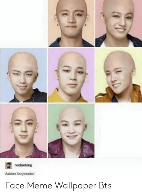 Rookieking Baldtan Sonyeondan Cf 6 Face Meme Wallpaper Bts