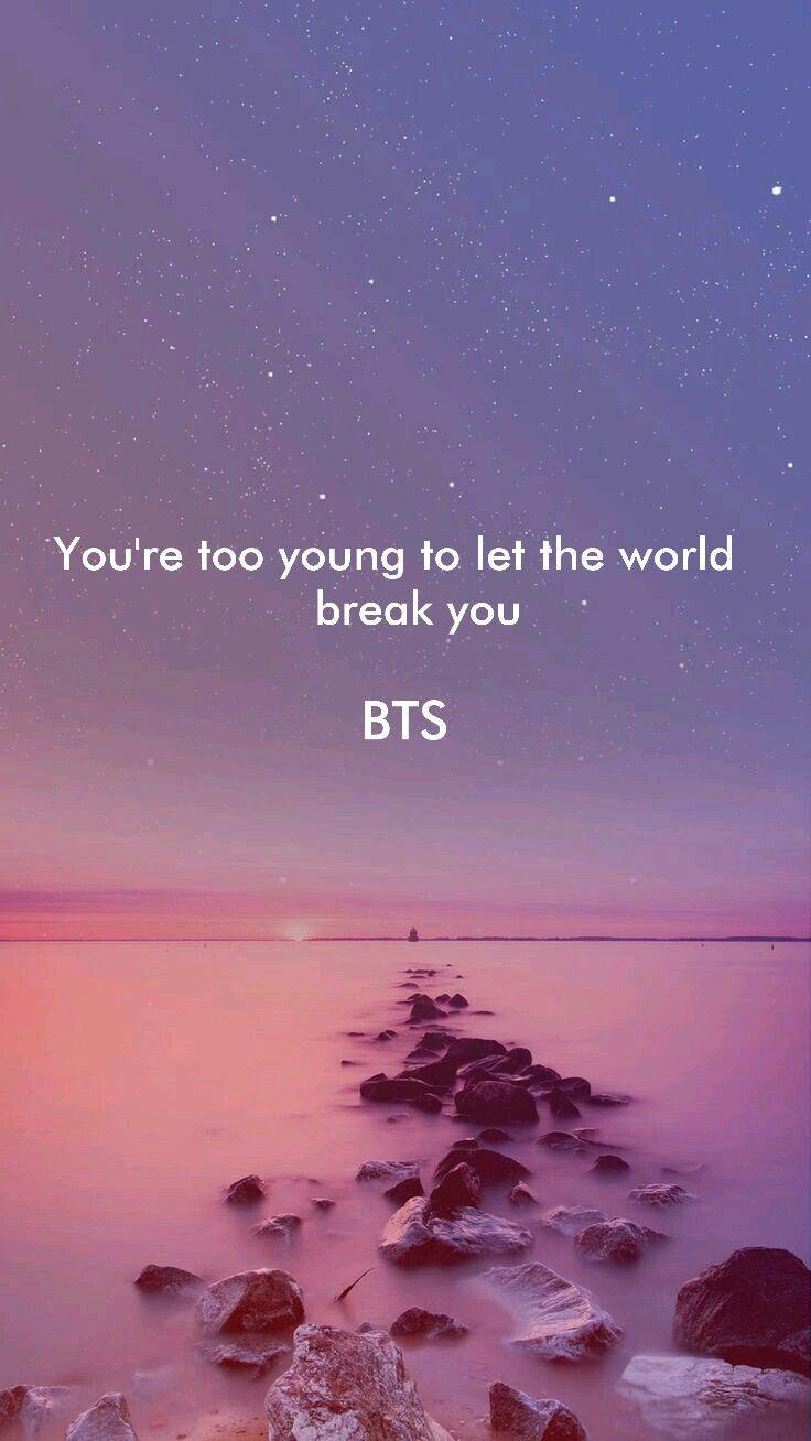 Bts wallpaper in 2019 Bts quotes, Bts wallpaper lyrics